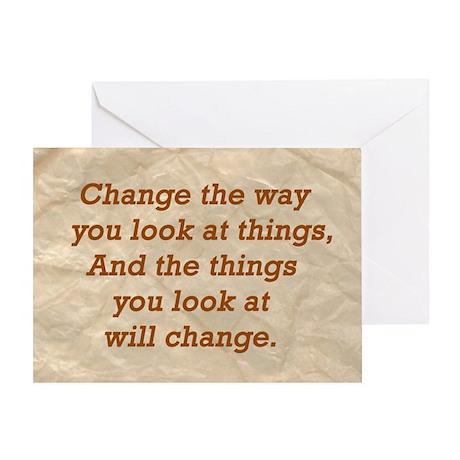 Change-the-way Greeting Card