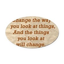 Change-the-way Oval Car Magnet