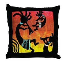 Dance of the Kokopelli Throw Pillow