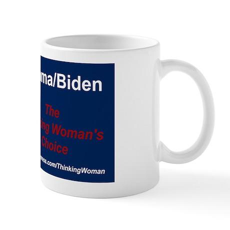 BANNER Obama The Thinking Womans Choice Mug