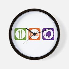 Eat Sleep Shorthair Wall Clock