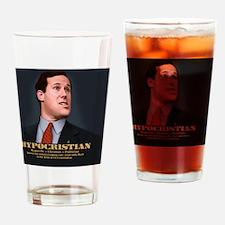 santorum-caric-TIL Drinking Glass