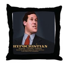 santorum-caric-TIL Throw Pillow