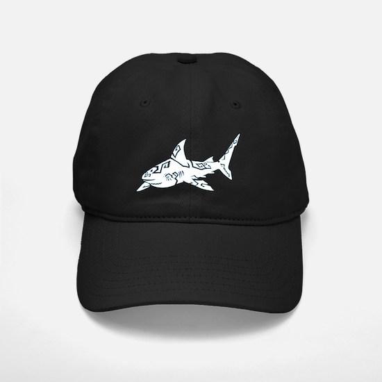 shark_WHITE Baseball Hat