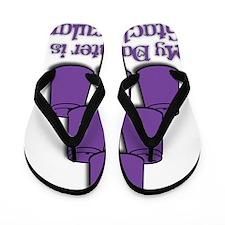 purple dot tacular keychain Flip Flops