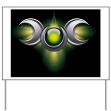 Triple Goddess - green - square Yard Sign