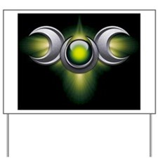 Triple Goddess - green - stadium blanket Yard Sign