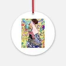 iPad S Klimt 5 Round Ornament