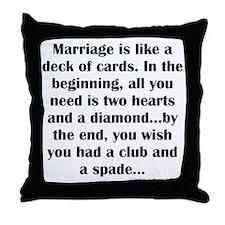 Marriage Throw Pillow