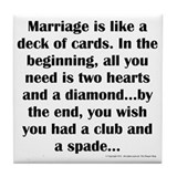 Funny marriage Drink Coasters
