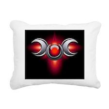 Triple Goddess - red - s Rectangular Canvas Pillow