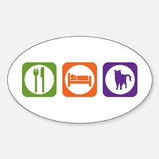 Eat Sleep Chartreux Oval Decal