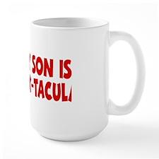 red My Son Stack-tacular hat Mug