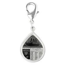 NYT MAYBE BIG Silver Teardrop Charm
