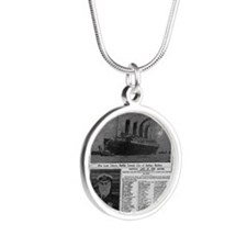 NYT MAYBE BIG Silver Round Necklace