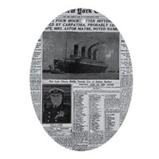 NYT MAYBE BIG Oval Ornament