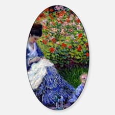 iPadS Monet Camille Sticker (Oval)