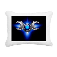 Triple Goddess - blue -  Rectangular Canvas Pillow