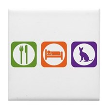 Eat Sleep Rex Tile Coaster