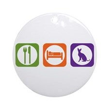 Eat Sleep Rex Ornament (Round)