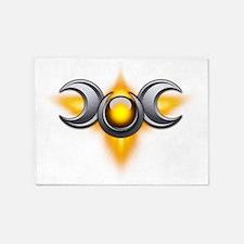 Triple Goddess - yellow - transpare 5'x7'Area Rug