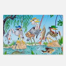 3 herons 5X7 card Postcards (Package of 8)