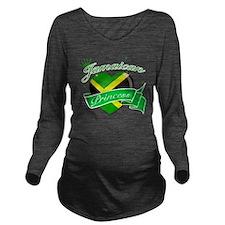 jamaica Long Sleeve Maternity T-Shirt