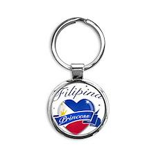 phillipines Round Keychain