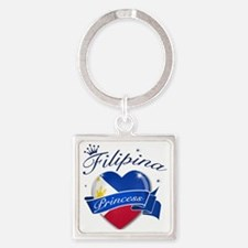 phillipines Square Keychain