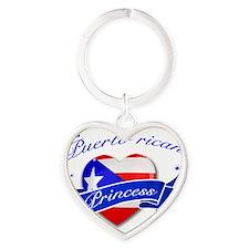 puertorico Heart Keychain