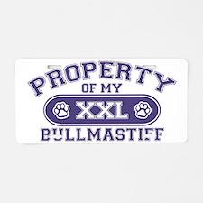 bullmastiffproperty Aluminum License Plate