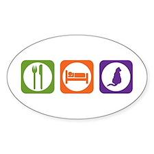 Eat Sleep Mau Oval Decal