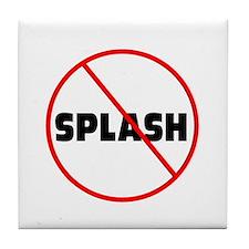 DiveChick No Splash Tile Coaster