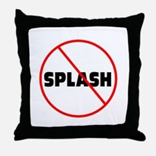 DiveChick No Splash Throw Pillow