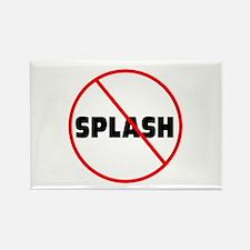 DiveChick No Splash Rectangle Magnet