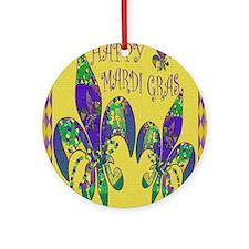Mardi Gras Carnival Round Ornament