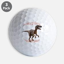 raptor-dont-care Golf Ball
