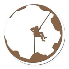 A Climbers World Round Car Magnet