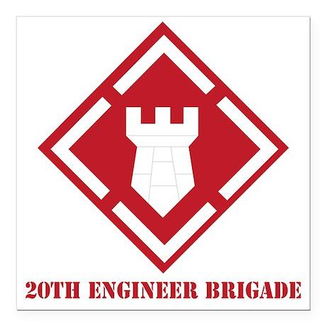 "SSI - 20th Engineer Brig Square Car Magnet 3"" x 3"""