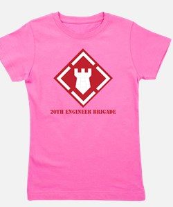 SSI - 20th Engineer Brigade with Text Girl's Tee