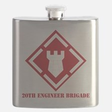 SSI - 20th Engineer Brigade with Text Flask