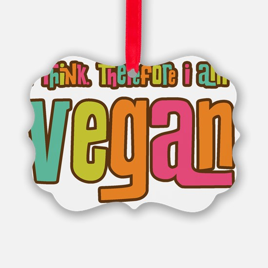ThinkVegan2 Ornament
