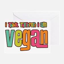 ThinkVegan2 Greeting Card