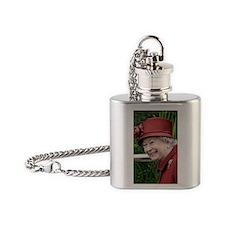 HRH QUEEN ELIZABETH II Flask Necklace