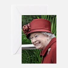 HRH QUEEN ELIZABETH II Greeting Card