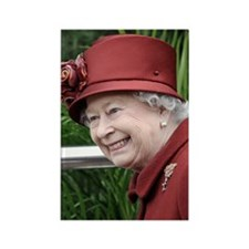 HRH QUEEN ELIZABETH II Rectangle Magnet