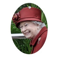 HRH QUEEN ELIZABETH II Oval Ornament