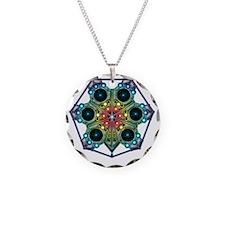 Tessalarian Snowflake Necklace Circle Charm