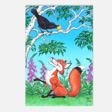 Fox and Crow Postcards (Package of 8)