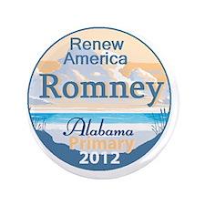 "Romney ALABAMA 3.5"" Button"